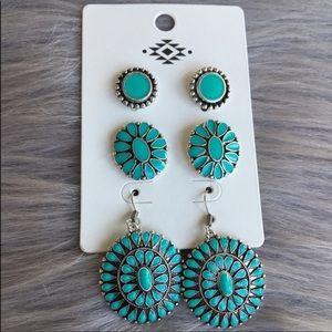Navajo style turquoise earrings